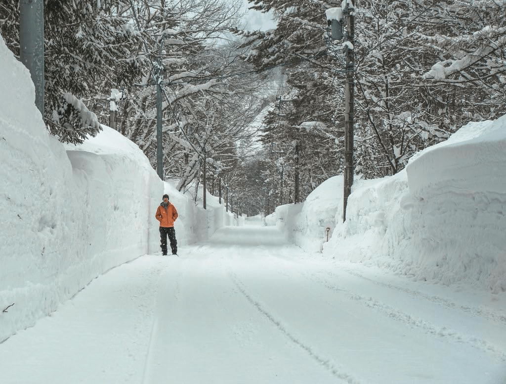huge snowfalls in Echoland Hakuba Valley