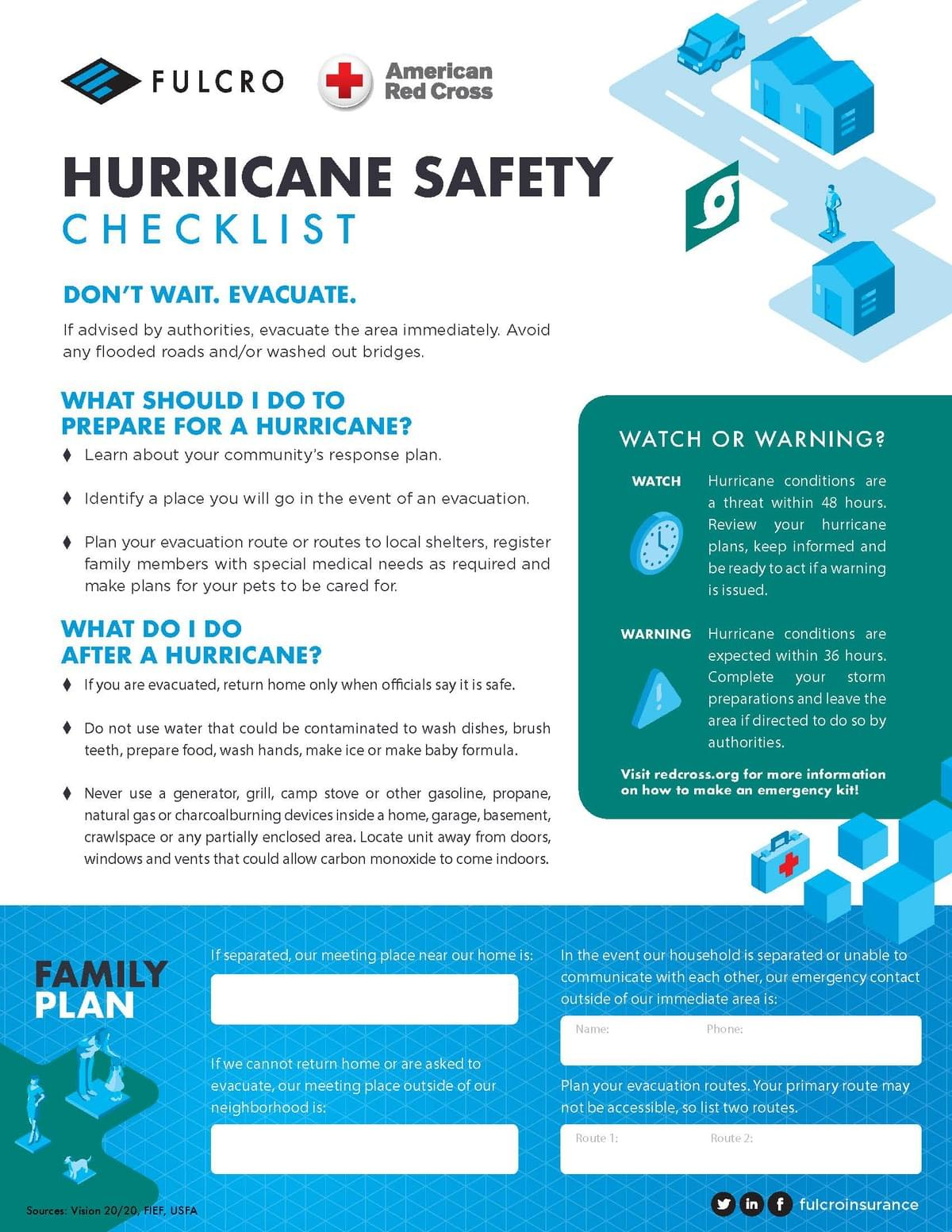 Hurricane Safety Checklist