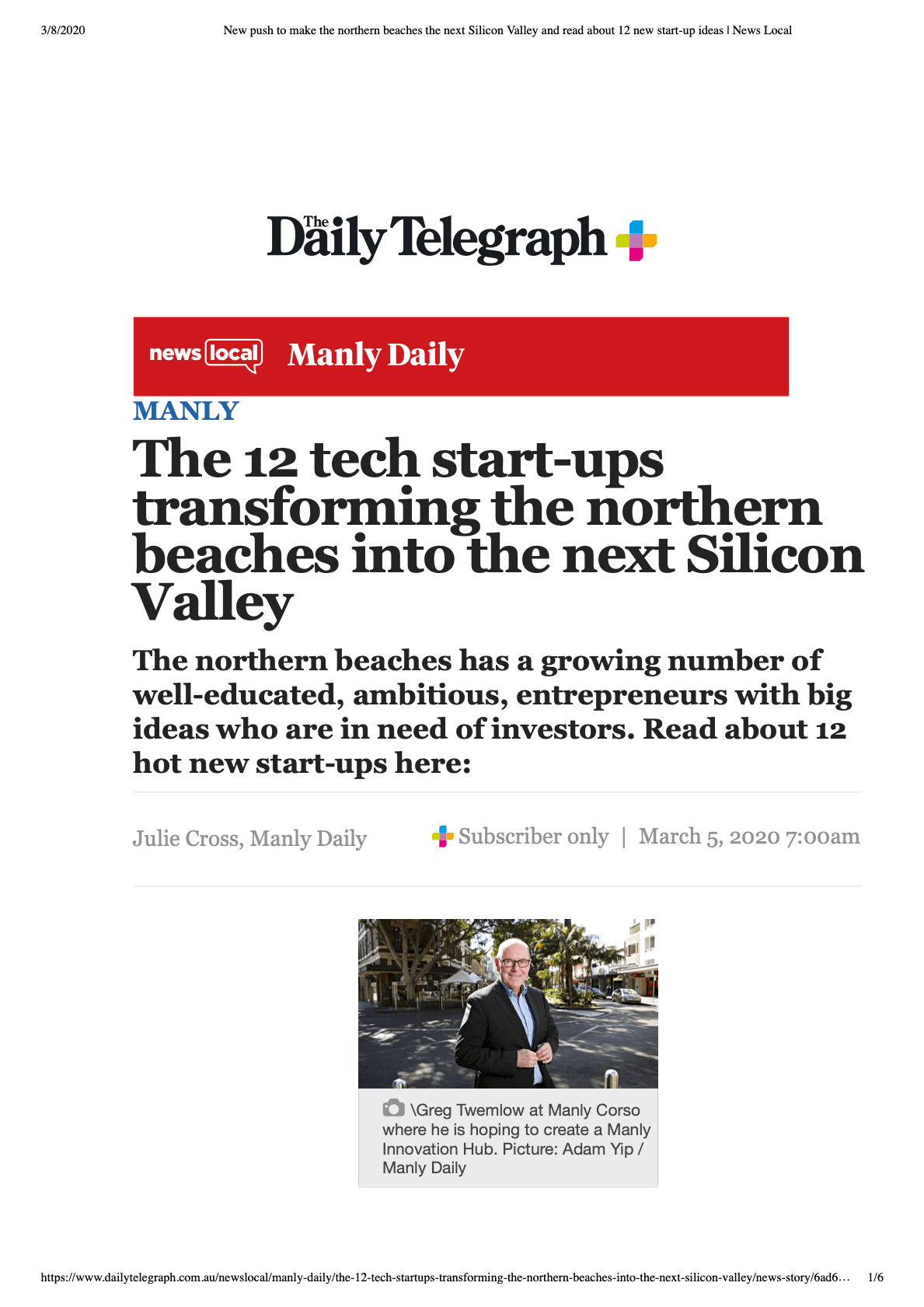 The 12 tech start-ups transforming the northern beaches into the next Silicon Valley by SEVENmile Venture Lab