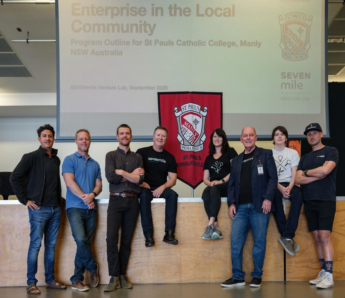 Enterprise in the Community launch day with Adam Fazzani, Jonas Bengtsson, Tim Watson, Mitchell Filby, Julija McDowell, Greg Twemlow, Dragan McDowell, Matt Clarke