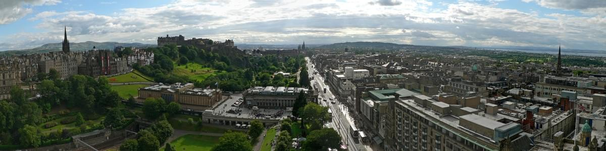 View of Edinburgh from the Scott Monument looking west.