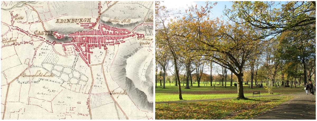 The Edinburgh Meadows were a purposefully designed park which transformed a muddy bog into a grassy fields set with tree-lined walks.
