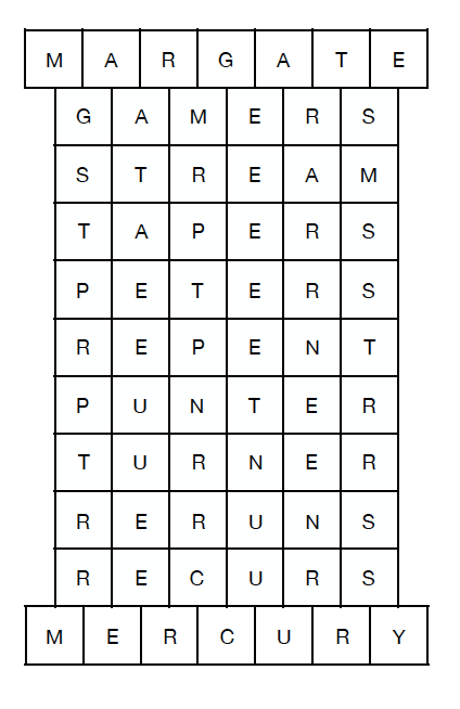 Margate Mercury magazine puzzle answers