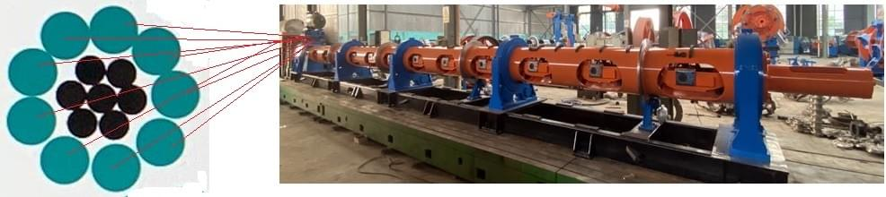 steel wire rope use 1+9 300 tubular strander from capstaner technology