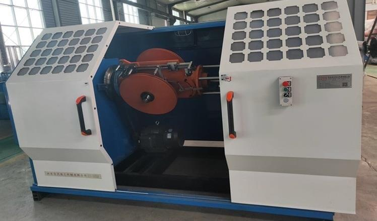 steel taping armouring machine