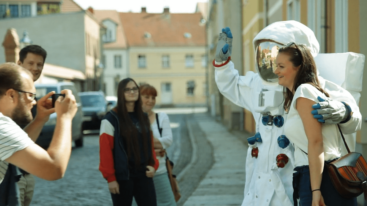 Silent Rocco's Lostronaut attracting people's attention