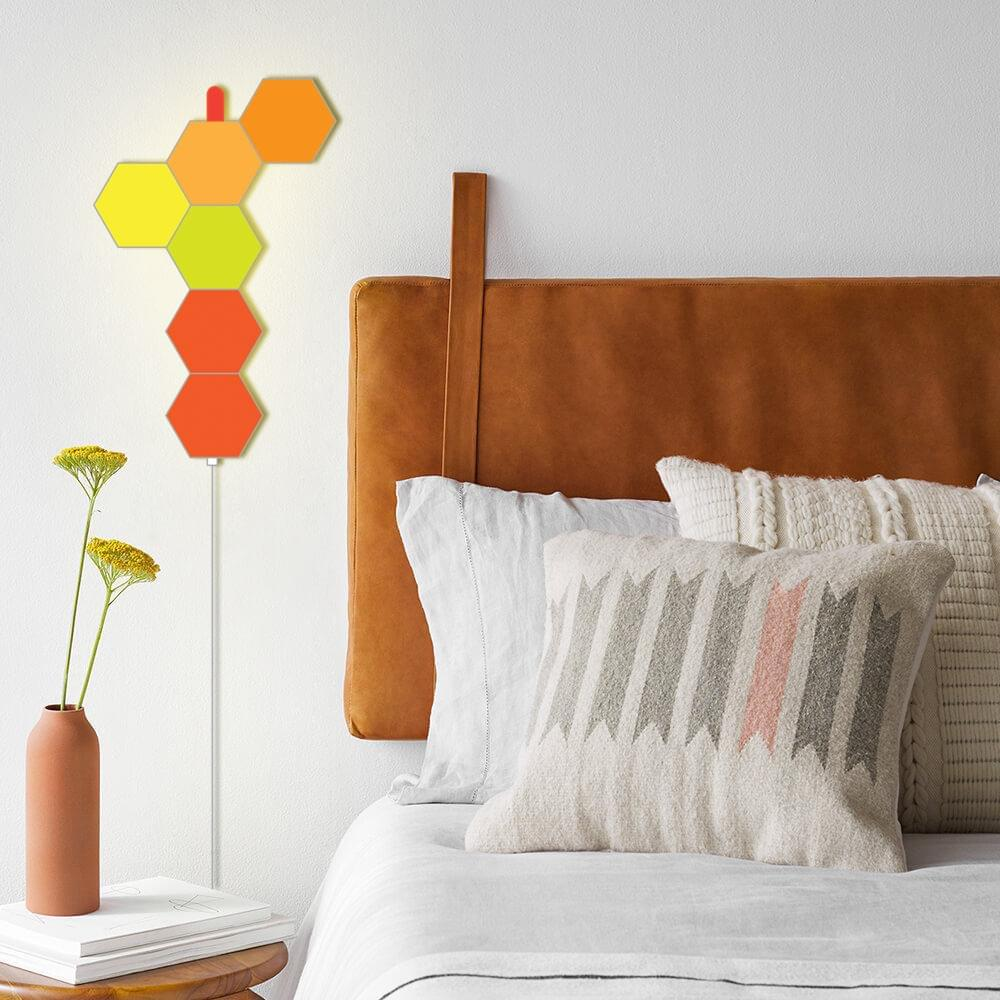 APP operated hexagon bedroom lights