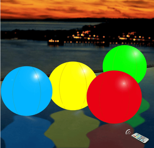 inflatable beach ball with LED lights
