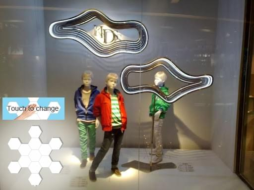 touch hexagon lights for shop windows