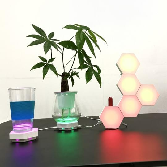 hexagon table lamp with bluetooth APP control