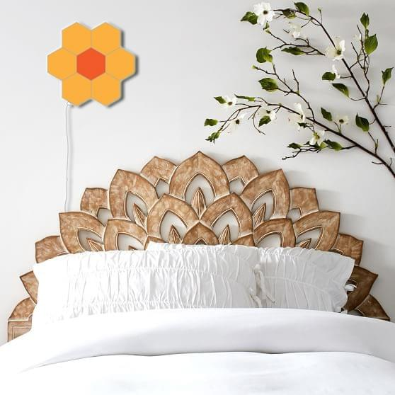 touch hexagon lights for headboard