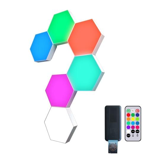 remote controlled hexagonal lights