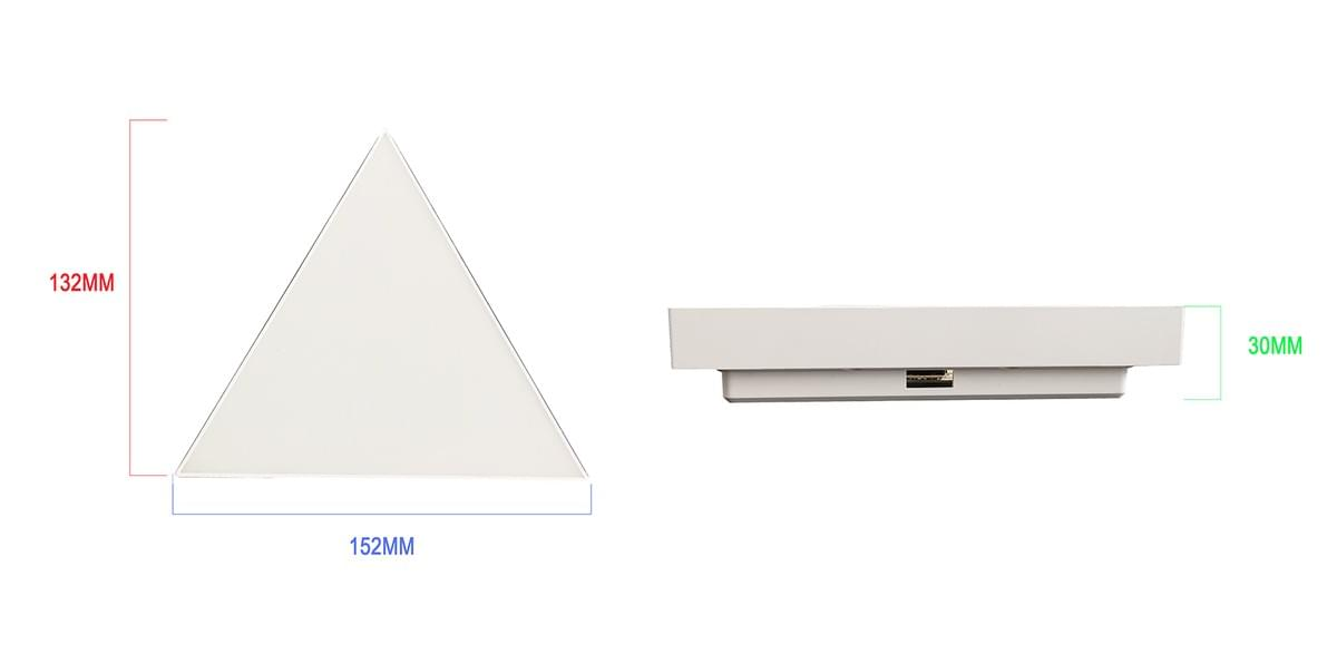 the size of triangle lights