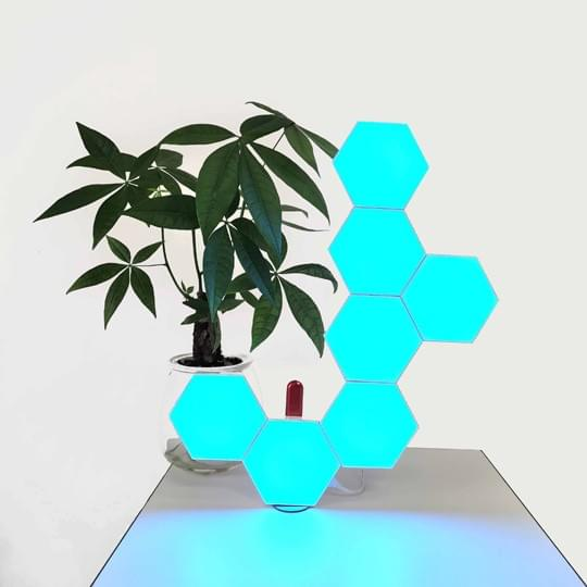 APP operated hexagon table lamp