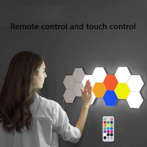 Remote control all the hexagon lights at the same time.