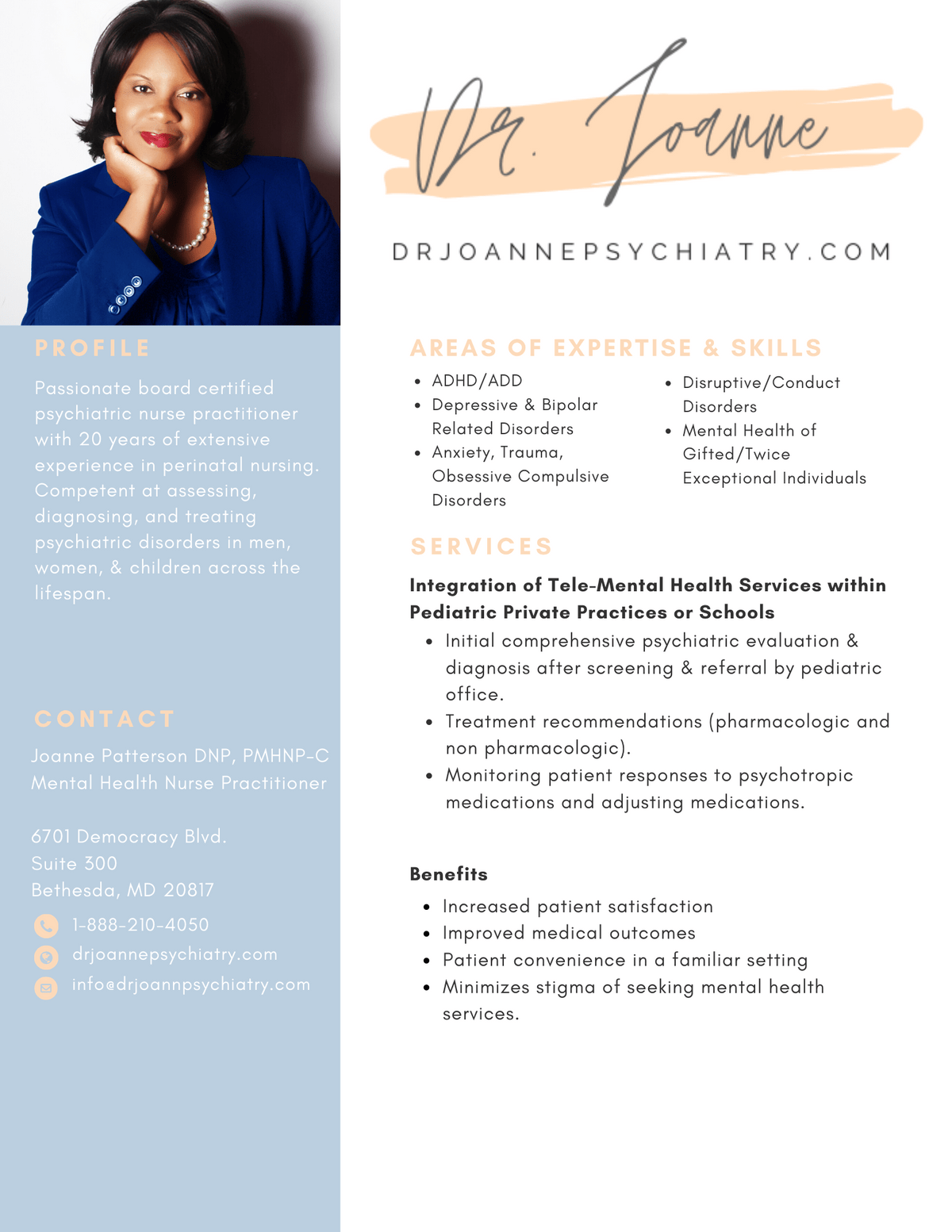 Dr. Joanne Psychiatry Child & Adolescent Psychiatry Brochure