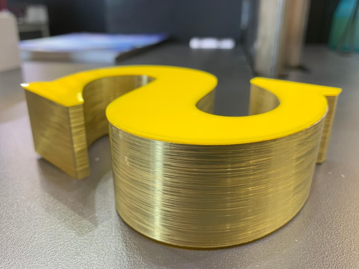 3D aluminum channel letter made by varisigns channel letter bending machine