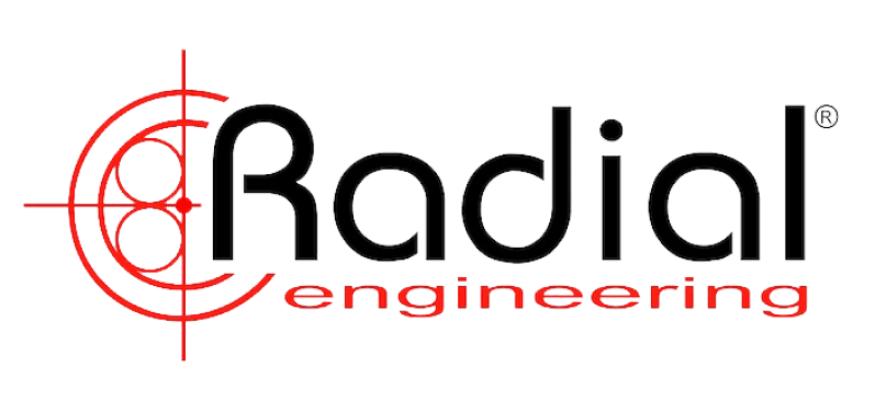This is the logo for Radial Engineering, a Métier Mastering partner. The photo is a link to their website.