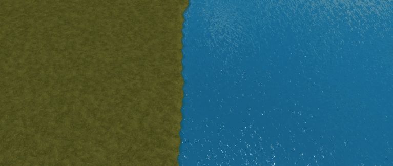 Screenshot of a terrain without de-tiling
