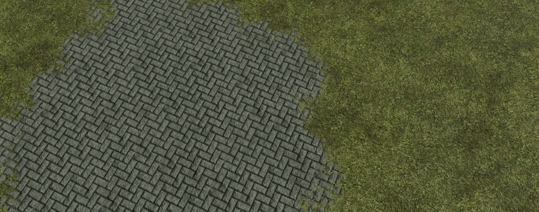 Screenshot of a terrain with heightmap blending