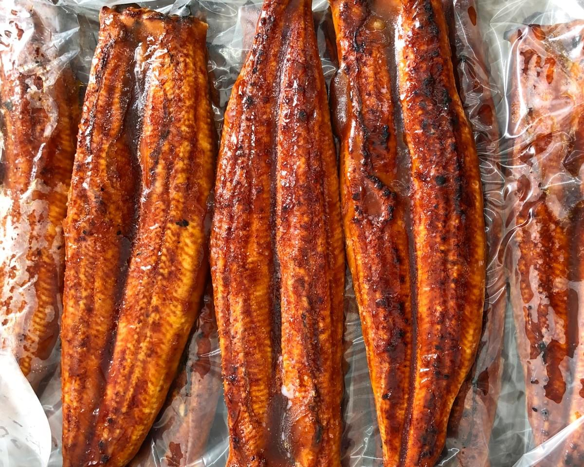 Frozen Roasted Eel Fillets