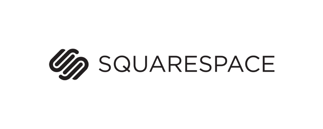 Squarespace logo and website link
