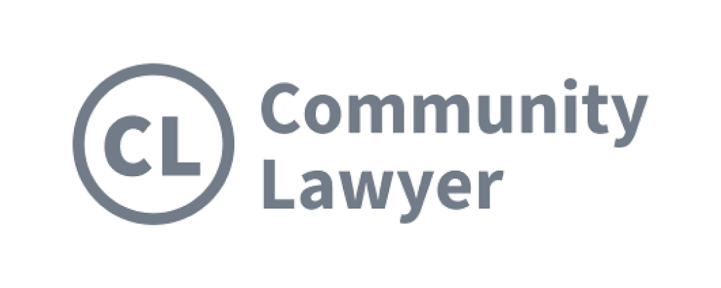 Community Lawyer logo and website link