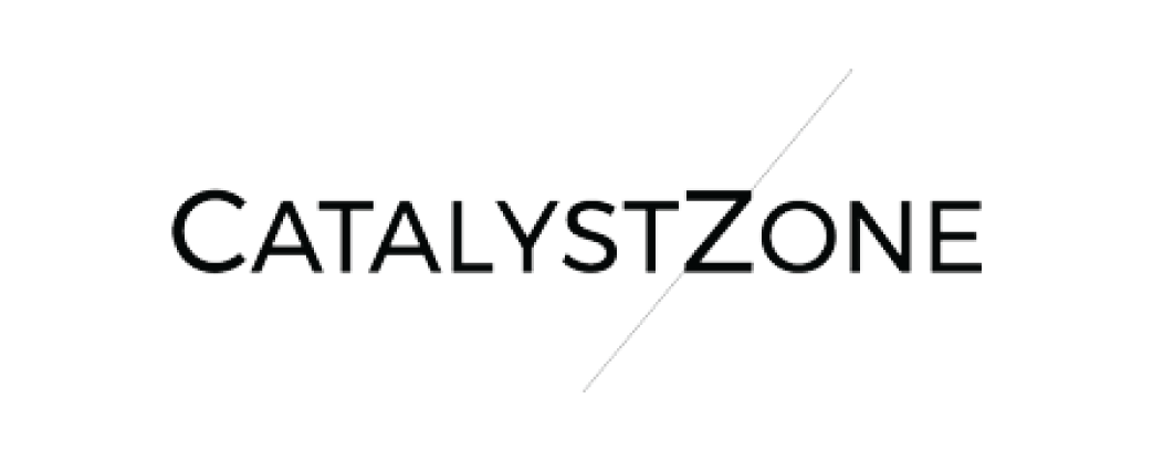 The Catalyst Zone logo and website link