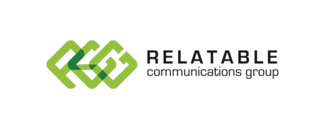 Relatable Communications Group logo and website link
