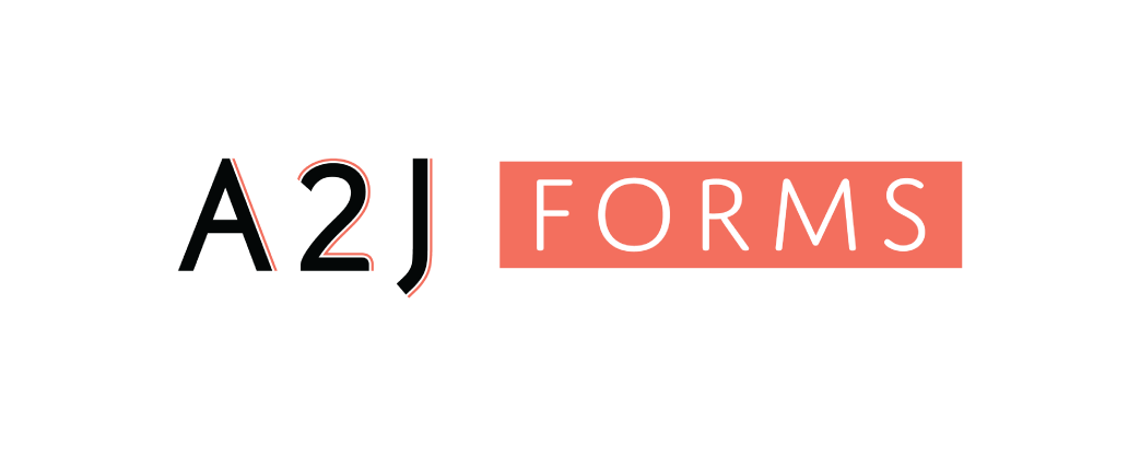 A2J Forms logo and website link