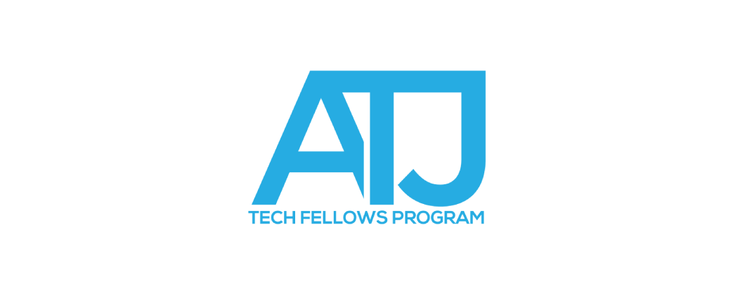 ATJ Tech Fellows Program logo and website link