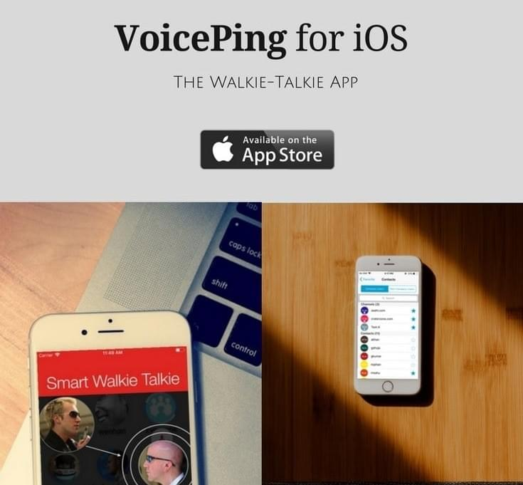 VoicePing iPhone Walkie Talkie App