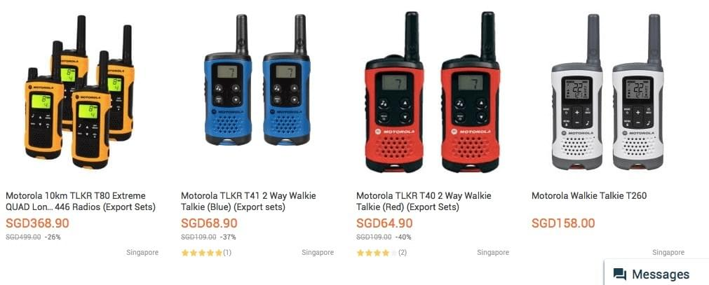 License Free Short Range Walkie Talkie