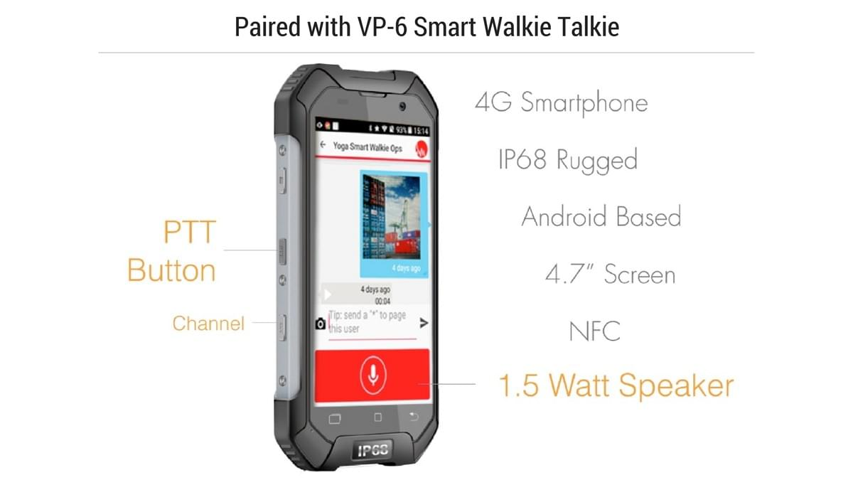 VP-6 Smart Walkie Talkie x VersaFleet