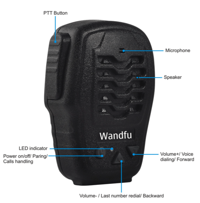 Bluetooth PTT for Two Ways Radio Like Experience