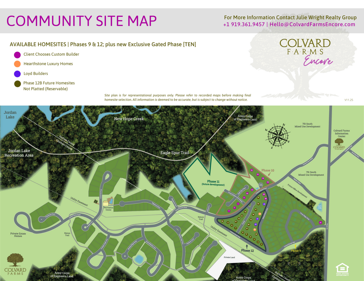 Colvard Farms | Durham North Carolina | Gated Residential Phase - Luxury New Homes