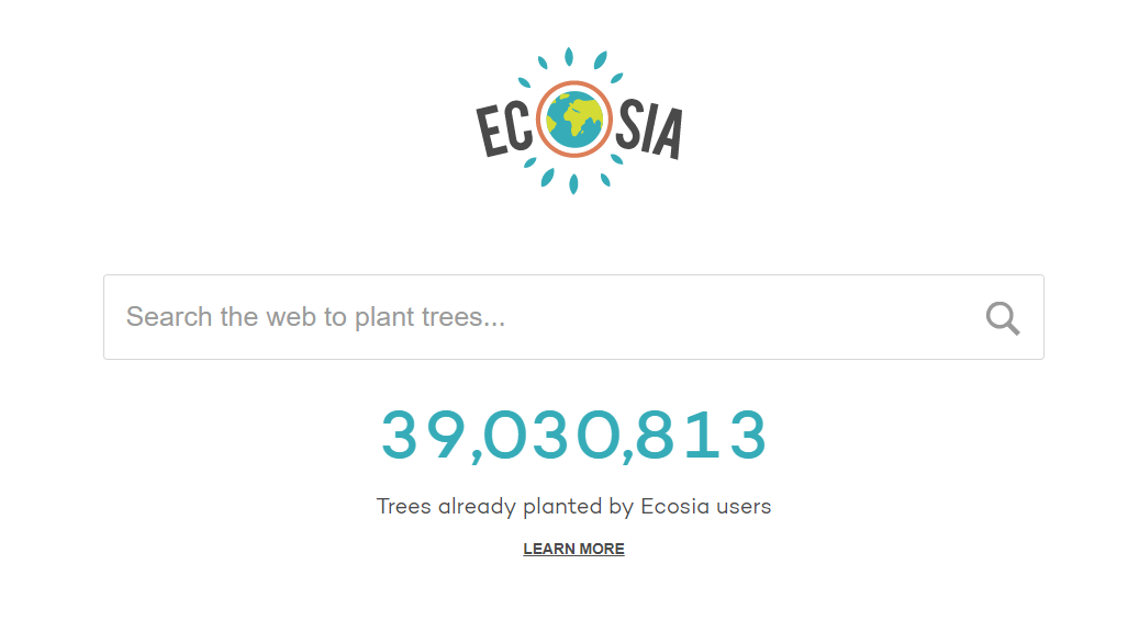 Ecosia.org screenshot