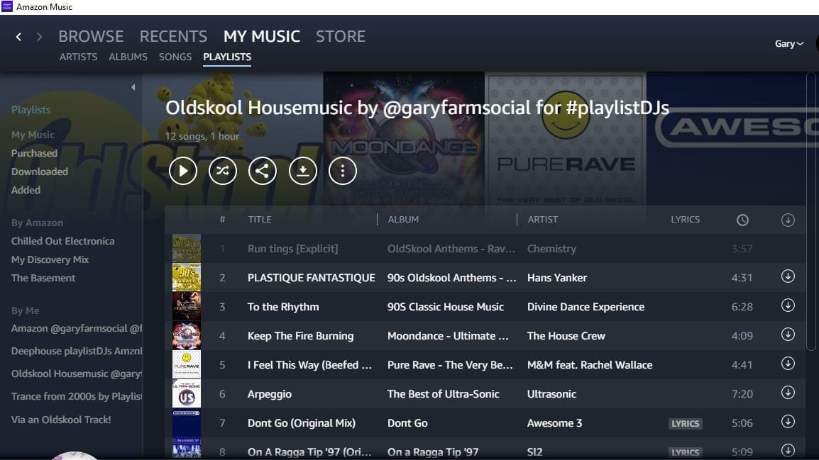 Amazon Music Rave