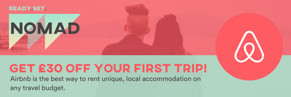 Get £30 off your first Airbnb!