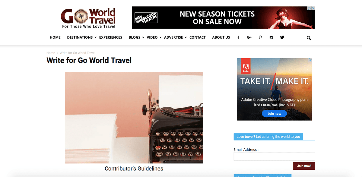 10 Publications That Will Pay You for Travel Writing