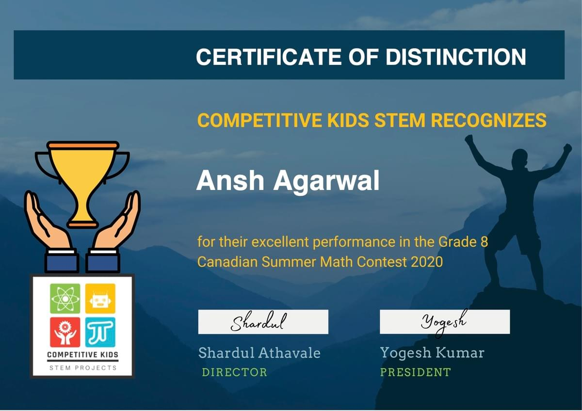 Canadian Math Summer Contest by the Competitive Kids STEM
