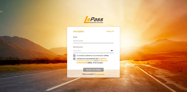 Inscription LePass