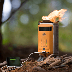 camping wood stove and charger