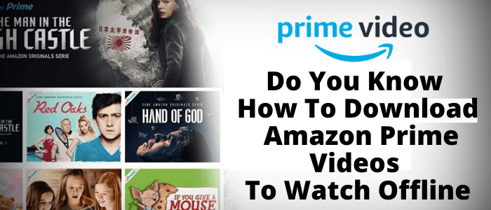 Do You Know How To Download Amazon Prime Videos To Watch Offline