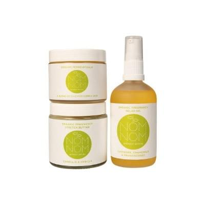 NOMNOM organic pregnancy oils, butter and baby products.