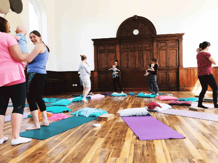 Pregnancy and postnatal yoga and movement classes in Somerset.