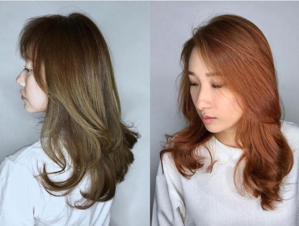 Hair color is offered at Walking On Sunshine Korean Salon in Singapore