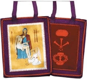 Scapular of Benediction and Protection - Purple Scapular