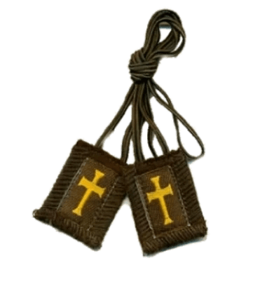 Crusaders/Athletes Brown Scapular