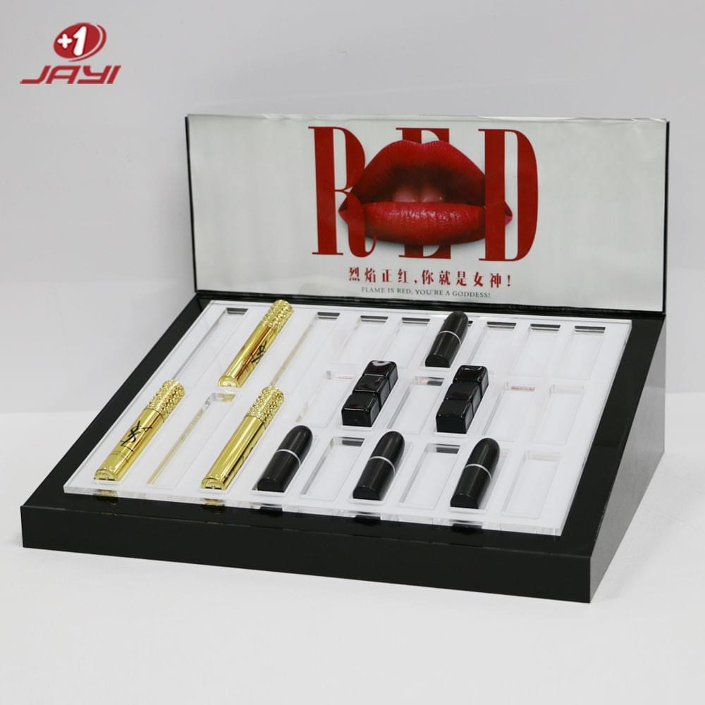 acrylic lipstick display stand with led